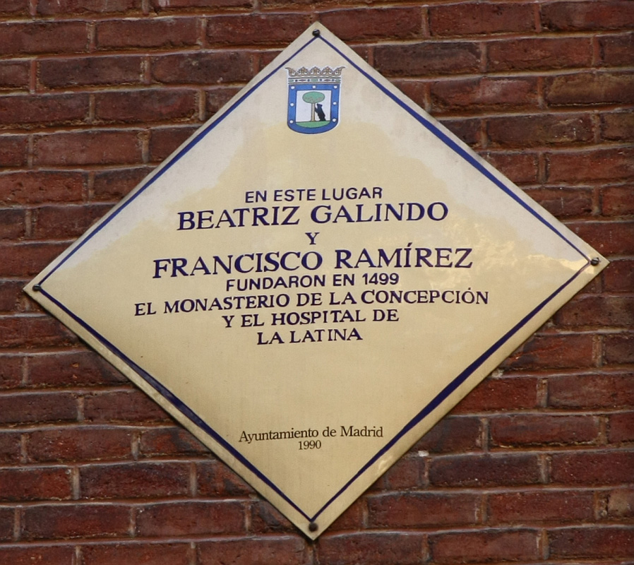 Beatriz Galindo y Francisco Ramírez